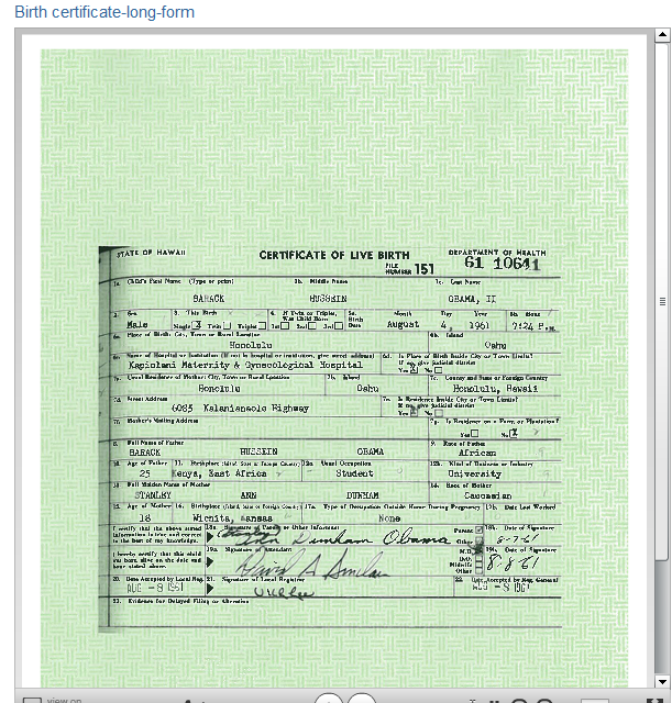 "Zullo:  ""Birth Certificate Information"" Given to FBI"