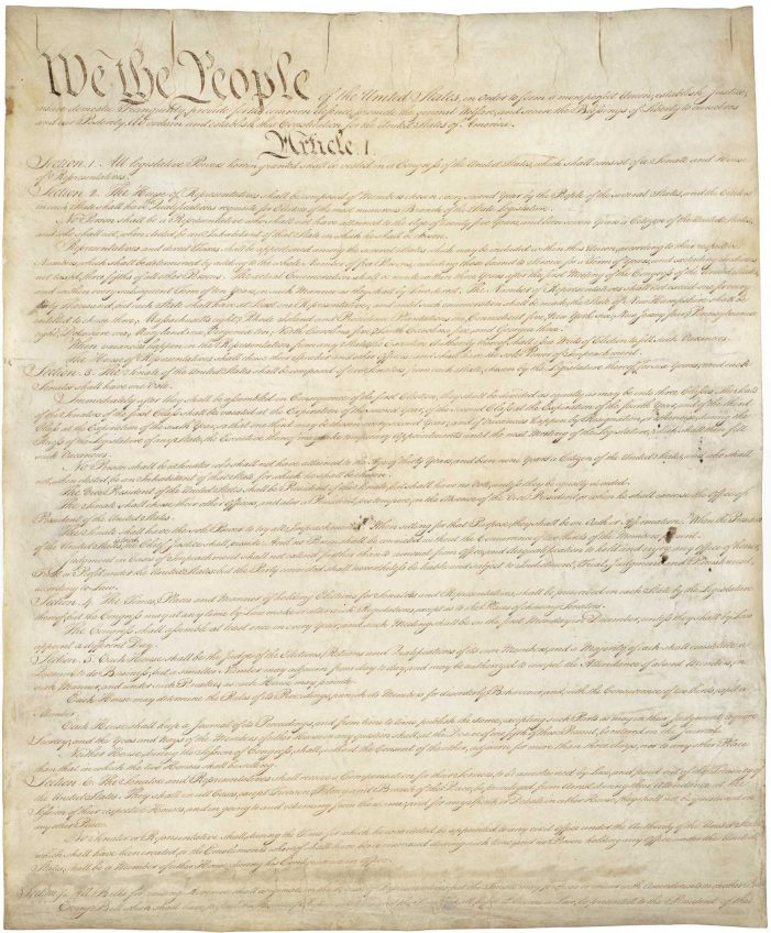 In the Political World, Our Constitution and Bill of Rights Don't Matter