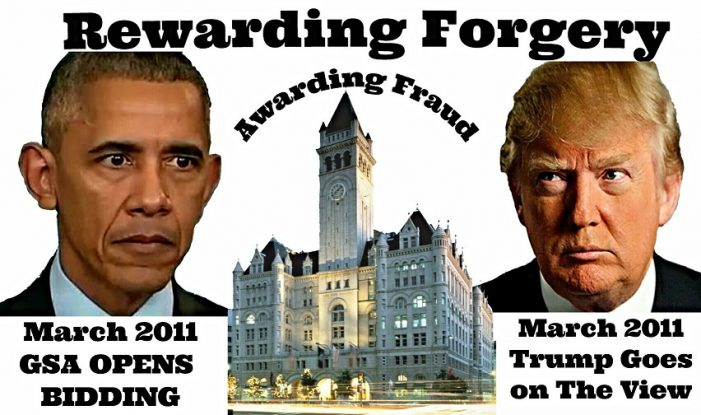 Rewarding Forgery, Awarding Fraud – The Obama-Trump Birth Certificate Connection