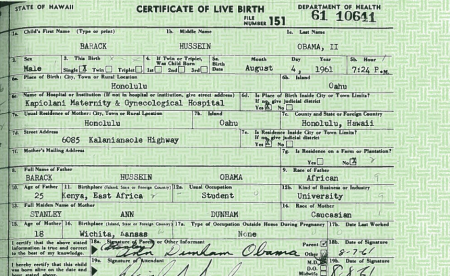 If The Birth Certificate Is A Forgery Didn T Obama Cheat
