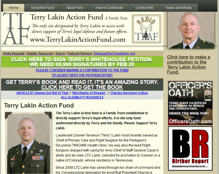 Special Report:  Presidential Pardon Sought for Terry Lakin by Action Fund Trustee