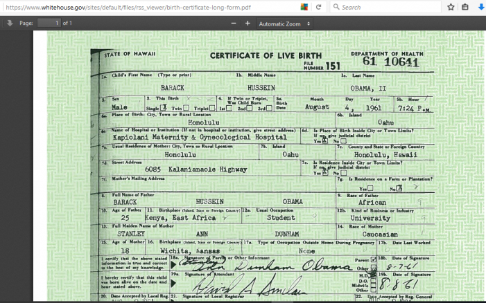 Arizona Republic Misrepresents Birth Certificate Investigation