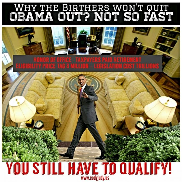 Obama Out? Not So Fast – Why Birthers Won't Quit Action in Federal Court