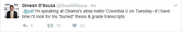 Will Dinesh D'Souza Find Anything on Obama at Columbia?