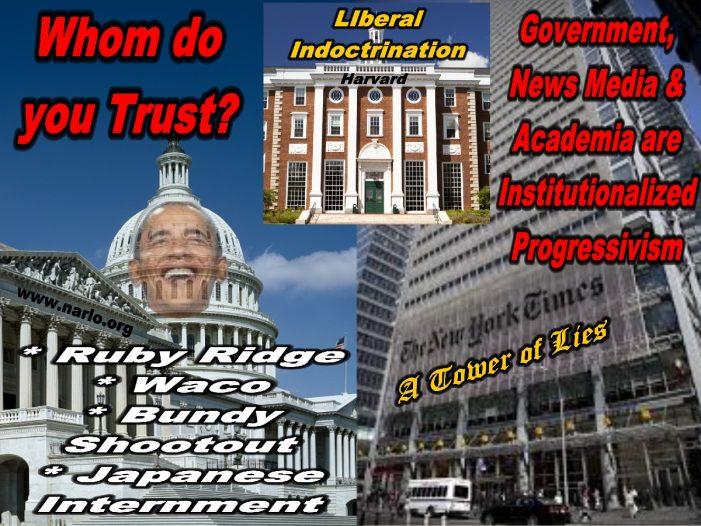 Only Fools Trust Government, Academia and the News Media