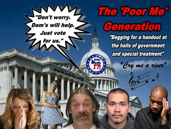 America's 'Poor Me' Generation, Awash in Self-Pity!