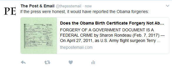 The Post & Email Calls Out Dishonest Media Over Obama's Fake Documents