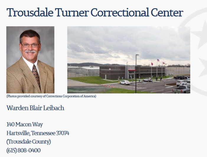 "TTCC Inmate Reports Guards ""Allow Junkies to Run Wild"""
