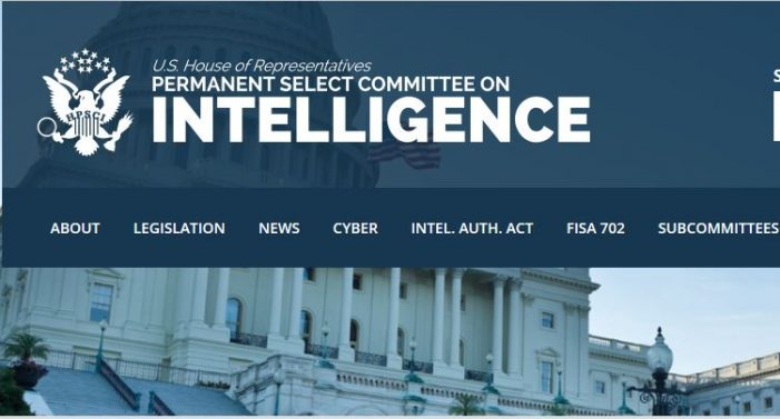 House Intelligence Committee Public Hearing Canceled