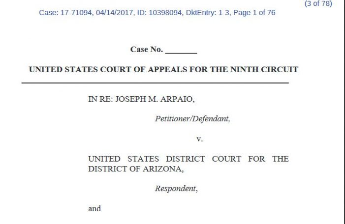 Ninth Circuit Orders DOJ to Respond in Arpaio Case