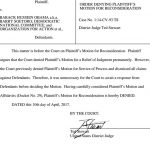 Obama Eligibility/Forgery Lawsuit:  Judge Says Defendants Not Required to Respond to Criminal Allegations