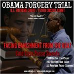 Obama Forgery Trial – Facing Banishment