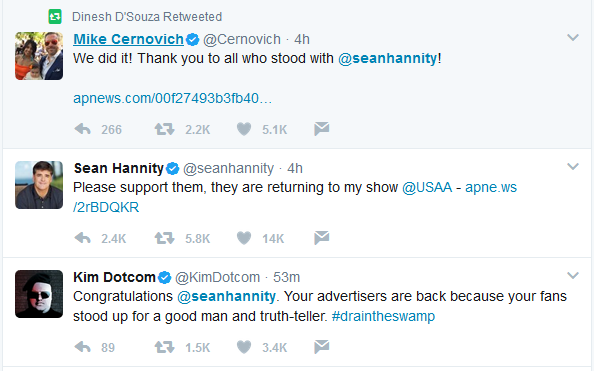 "Dotcom Says Hannity a ""Truth-Teller"""