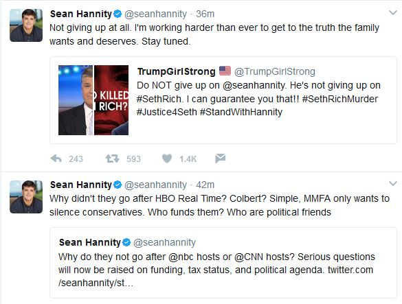 "Hannity:  ""Not Giving Up At All"""
