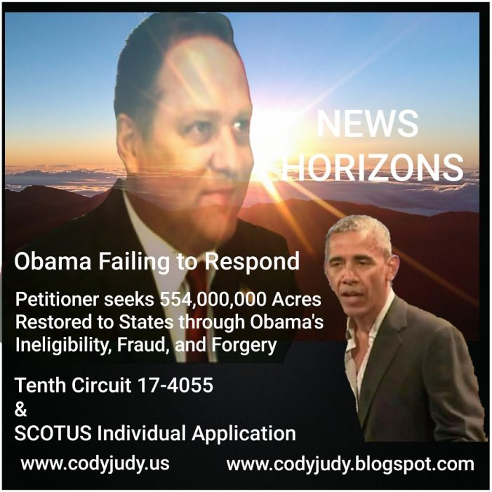 News Horizons – Obama's Legacy Molds with Ineligibility Case