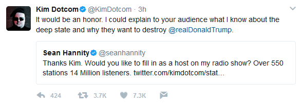 Will Kim Dotcom Host Sean Hannity's Radio Show?