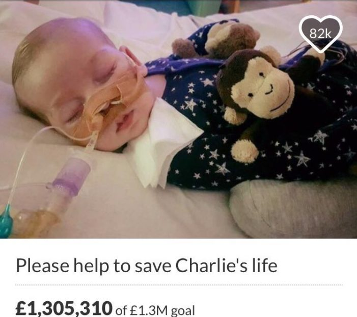 Report:  U.S. Hospital Offers Medical Treatment at no Cost to Charlie Gard