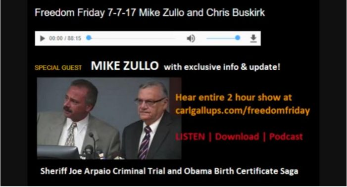 Mike Zullo Provides Update on Arpaio Trial, Obama Birth Certificate Investigation