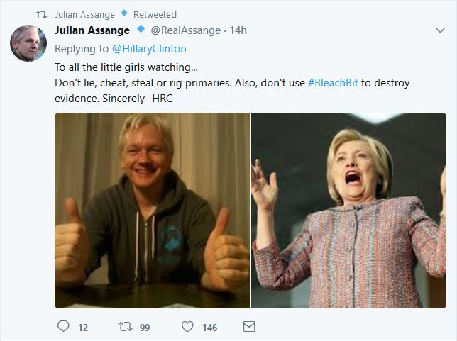 Assange Hillary BB earlier
