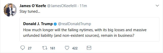 Does James O'Keefe Have Something on The New York Times?