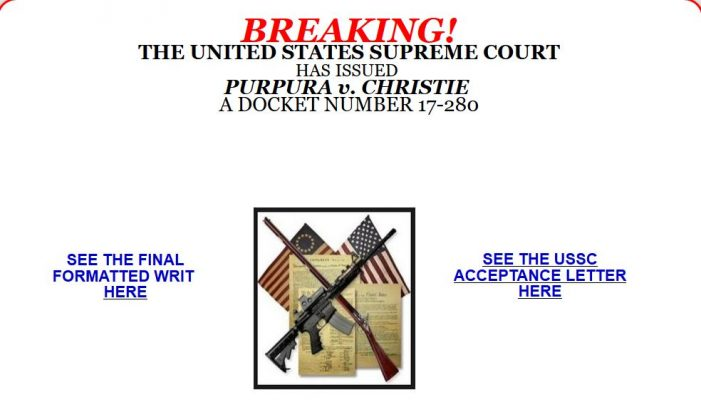 Breaking!  The United States Supreme Court Has Issued Purpura v. Christie a Docket Number 17-280