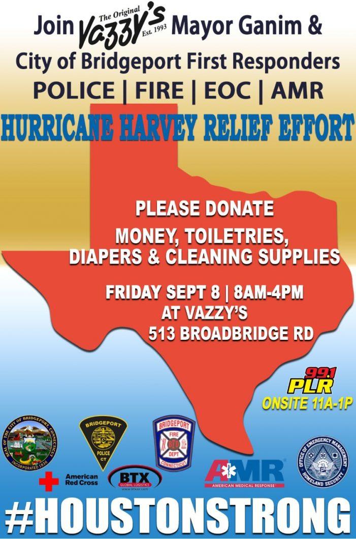 Mayor Ganim Responds to Houston Mayor Turner's Call with Hurricane Harvey Relief Fund