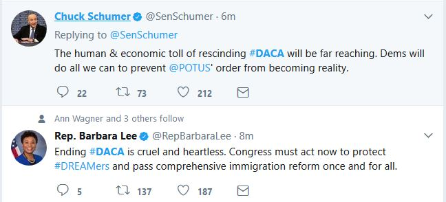 """Dems Say They'll """"Fight"""" Trump on DACA Decision"""