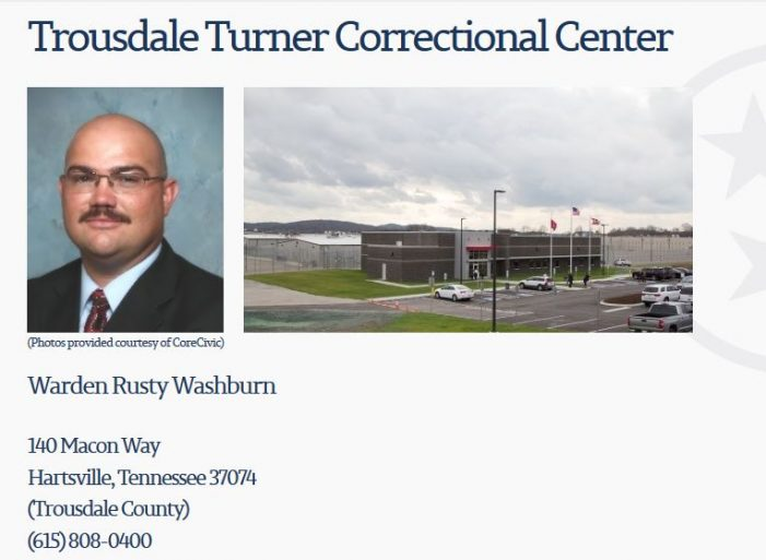 "Report:  Inmate ""High on Meth"" Attacks Correction Officer at Tennessee Prison"