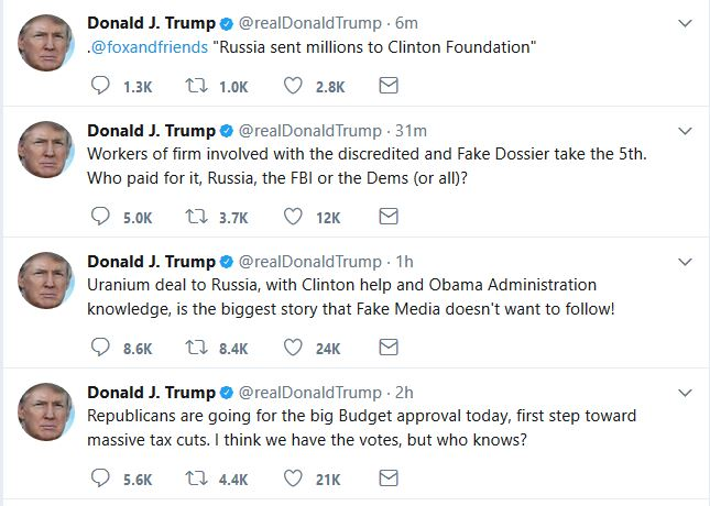 Trump Tweets About Obama-Era Corruption