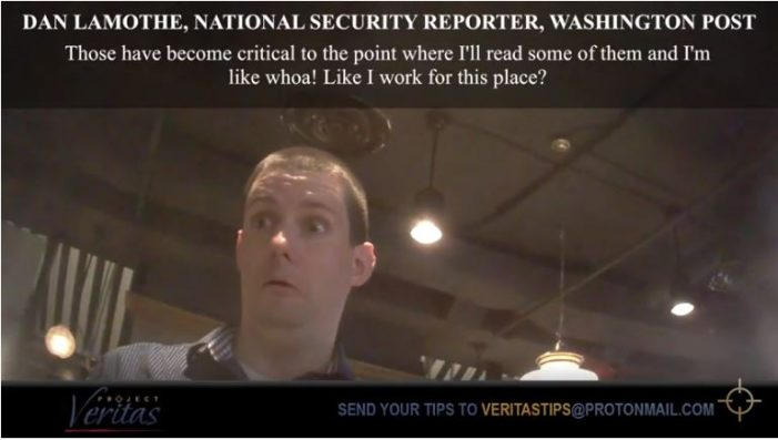 "Project Veritas ""Stings"" The Washington Post"