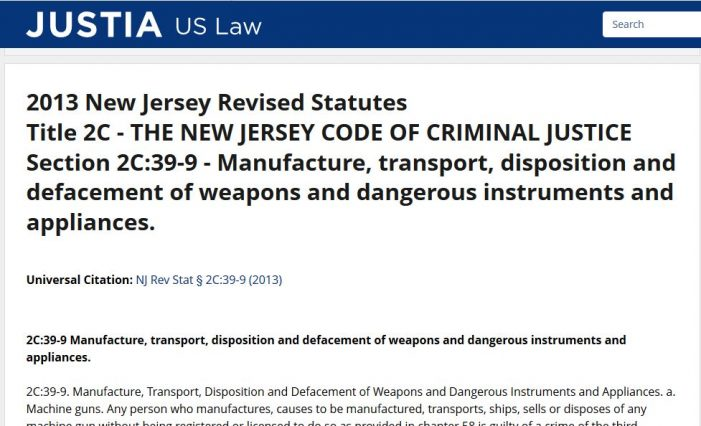 Licensed Gun Owner Arrested in New Jersey Borough