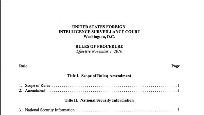 The Nunes Memo and FISC Rule 13