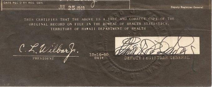 territory of hawaii birth certificate
