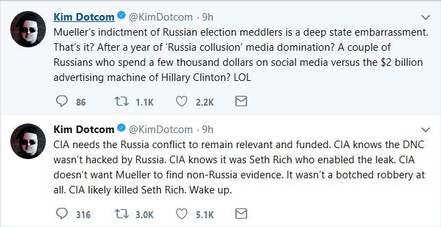 "Kim Dotcom Claims CIA ""Knows"" Slain DNC Staffer Involved in DNC Email Release"