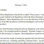 "Democratic Response to Nunes Memo ""Leaked"" to NBC News"