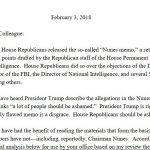 "Democratic Response to Nunes Memo ""Leaked"" to NBC News"