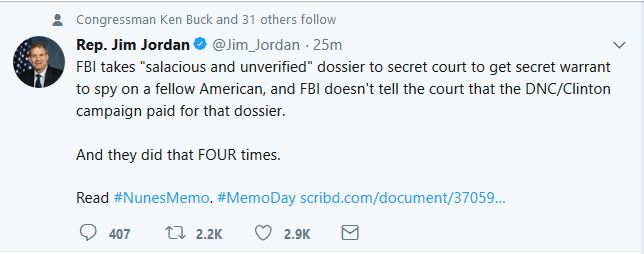 "Rep. Jim Jordan:  FBI Withheld Key Information from Surveillance Court ""Four Times"""