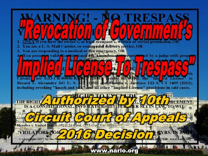 Can A Sign Revoke Government's Implied License To Trespass?