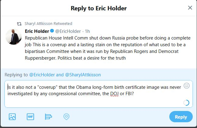 "P&E to Holder:  What About the ""Coverup"" of the Birth Certificate?"