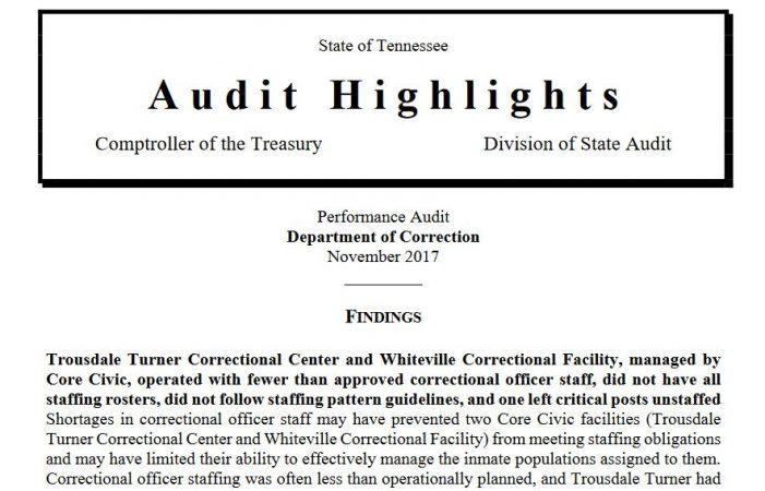 Inmate Reports Continued Dangerous Conditions at TTCC