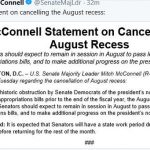 McConnell Cancels Senate's August Recess