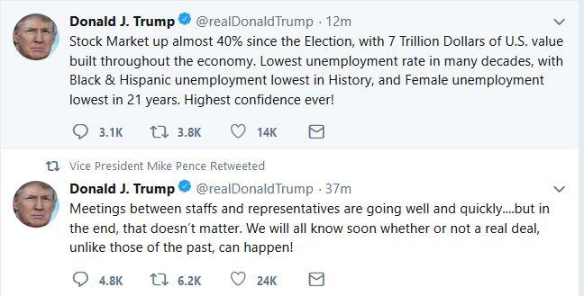 Trump Tweets in Advance of Singapore Summit