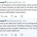 Trump Tweets from Singapore on Results of G7 Summit