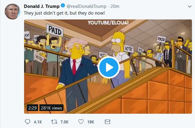 "Trump Tweets ""Never Trump"" Video"