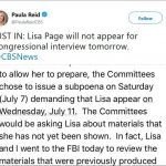 Congressman Refutes Lisa Page Attorney's Claim on Document Review