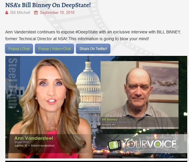 "New Internet Channel Interviews ""Deep State"" Opponents"