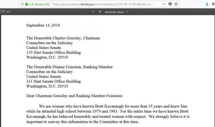 65 Women Sign Letter Supporting Supreme Court Nominee Brett Kavanaugh