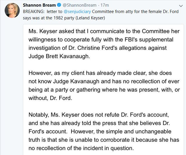 Third Named Ford Witness Offers Cooperation with FBI Investigation