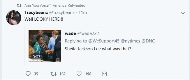 What Did Sheila Jackson Lee Hand to Ford Attorney?