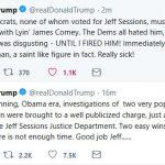 "Trump:  Democrats ""Must Love"" Jeff Sessions"